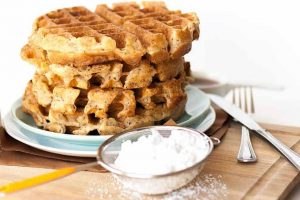 Vegan Flax Seed Belgian Waffles: Crispy, Fluffy, and Delicious