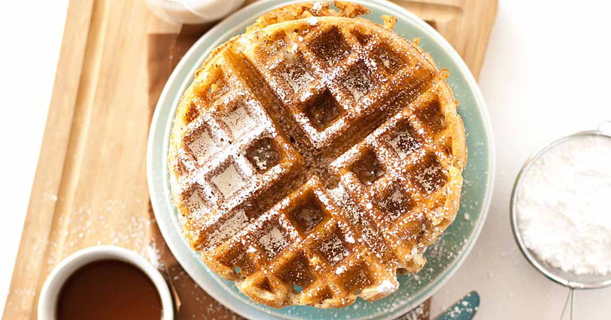 The best vegan belgian waffle recipe crispy fluffy delicious foodal forumfinder Choice Image
