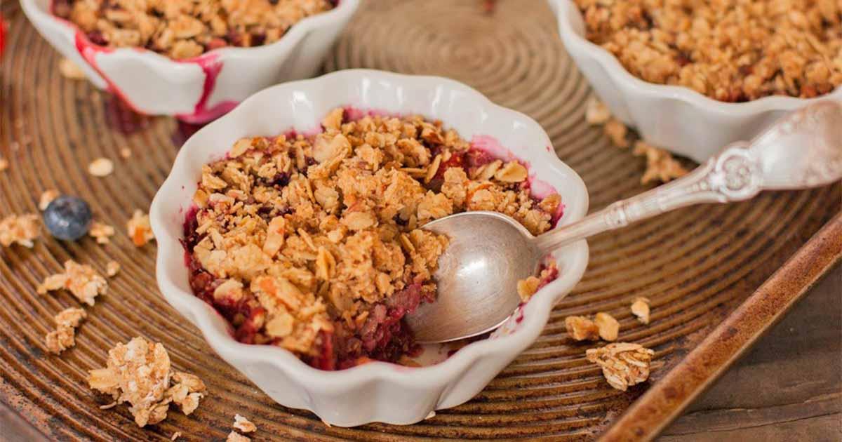 Strawberry Blueberry Almond Crisp Dessert Recipe Foodal