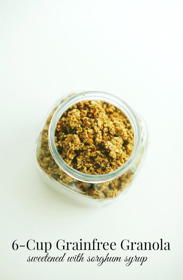 grainfree granola sweetened with sorghum