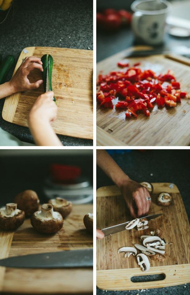 making-zucchini-mushroom-pepper-boats