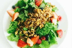 Triple Berry Salad with Sauteed Shallots and Walnuts in a Cayenne-Honey Vinaigrette