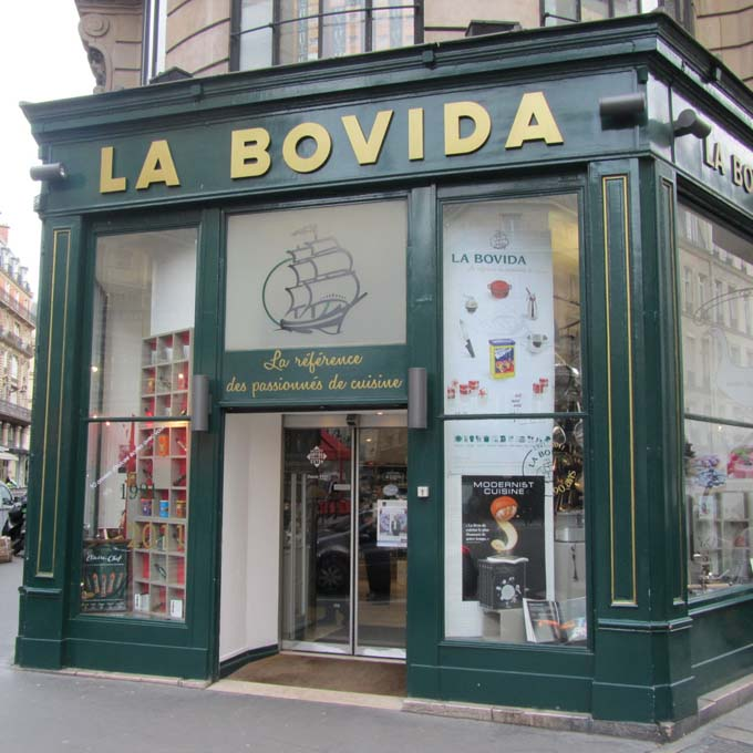La Bovida's Storefront in Paris