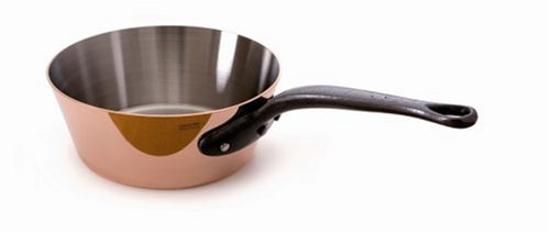 Mauviel M'Heritage Copper M250C 1.7-Quart Splayed Saute Pan | Foodal.com
