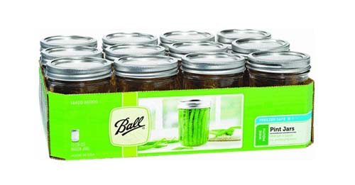 Ball pint wide mouth jars