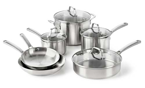 This Calphalon Classic Stainless Steel 10 Piece Set would make an awesome wedding present
