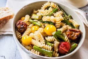 Grilled Tomato and Broccolini Pasta Salad with Balsamic Vinaigrette