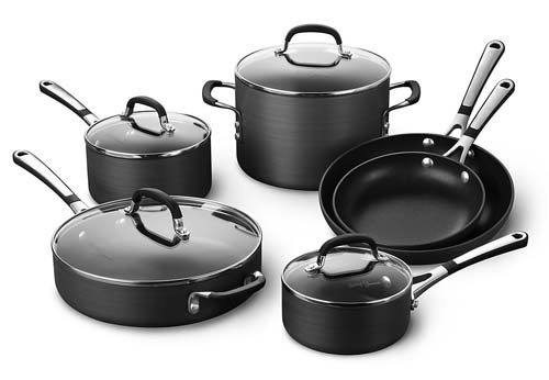 Simply Calphalon Nonstick 10 piece Cookware Set - a great midpriced set for a wedding present