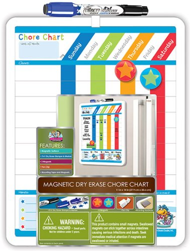 The Board Dudes Magnetic Dry Erase Chore List