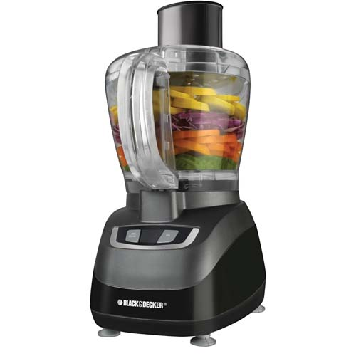 Black and Decker FP1660B 8 Cup Food Processor on isolated background