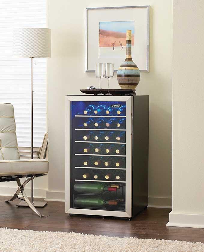 Danby 36 Bottle Freestanding Wine Cooler is a great unit.