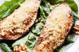 Marinara Stuffed Roasted Eggplant: A Healthy Vegan Pizza Alternative