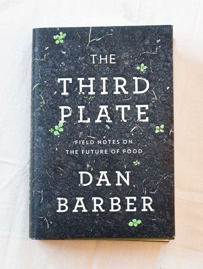 The front of the dust jacket for the book, The Third Plate.