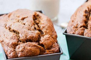 Vegan Banana Bread with Cinnamon and Garam Masala