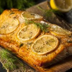 photo of of salmon demonstrating methods for cooking slamon in slow cooker or crockpot
