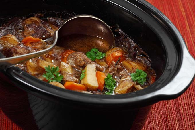 beef stew in a crock pot