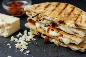 Caramelized Onion & Sundried Tomato Grilled Cheese Pita