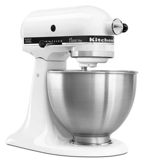KitchenAid KSM75WH 4 1/2 Qt Classic Plus Stand Mixer | Foodal.com
