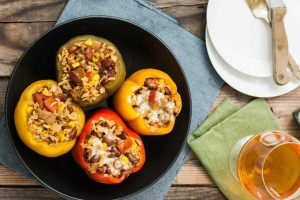 Slow Cooker Stuffed Southwestern Bell Peppers with Vegetarian & Vegan Options