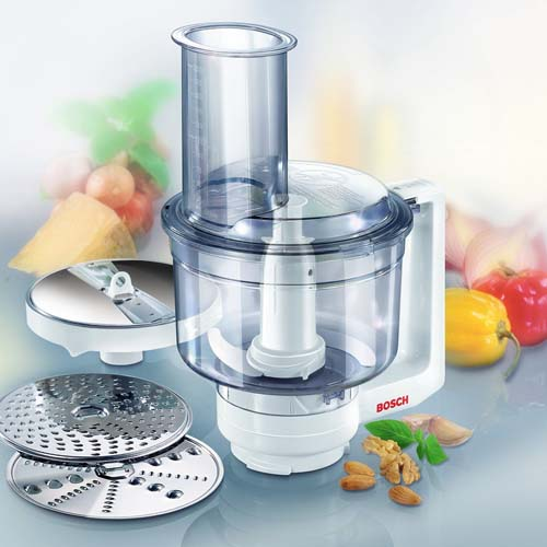 Bosch Universal Plus Food Processor Attachment for Universal Plus Mixer | Foodal.com