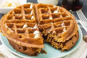 Vegan Sweet Potato (or Pumpkin!) Waffles