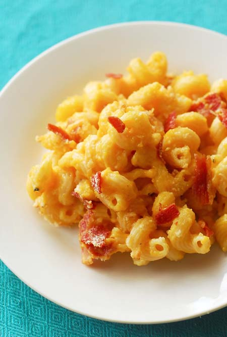 Try this Butternut Squash Pancetta Mac and Cheese and turn this old standby into something special! https://foodal.com/recipes/pasta/butternut-squash-pancetta-mac-cheese/
