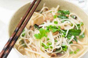 Gluten-Free Ramen-Style Black Eyed Pea Noodle Bowl (Vegan)