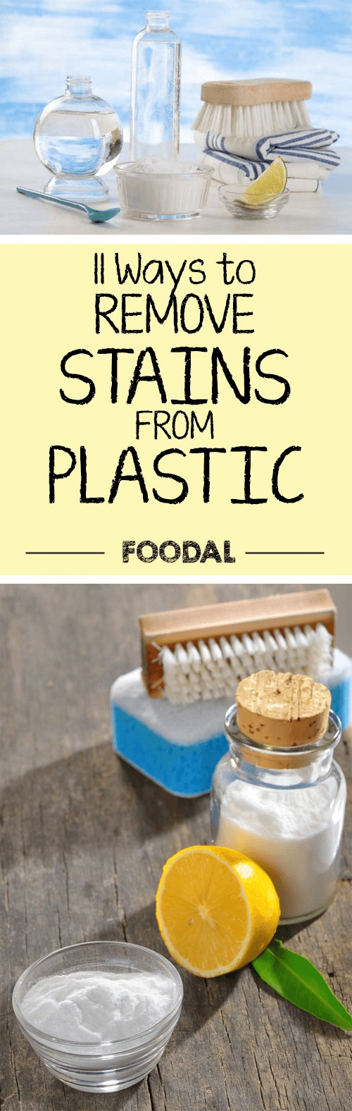 Plastic containers, cutting boards, cups, and utensils are found throughout the modern kitchen. But these things stain very easily. Find out how to make them sparkly clean now. https://foodal.com/knowledge/cleaning/11-ways-remove-stains-plastic/