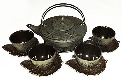 Japanese made Crane Cast Iron Tea Set with a Trivet | Foodal.com