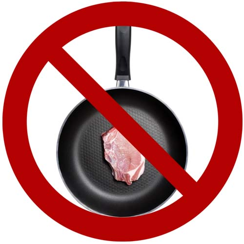 do not sear in a nonstick pan foodalcom