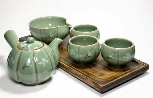 Korean Jade Green Celadon Tea Set | Foodal.com