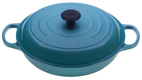 Le Creuset Signature Enameled Cast-Iron 3-1/2-Quart Round Braiser | Foodal.com