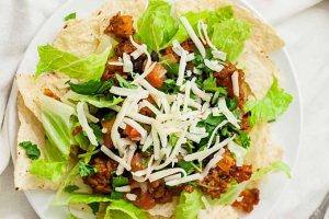 Vegan Soyrizo Taco Salad: a Quick Weeknight Meal That's Delicious Enough for Guests!