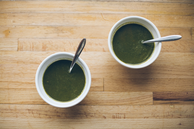green healing power soup