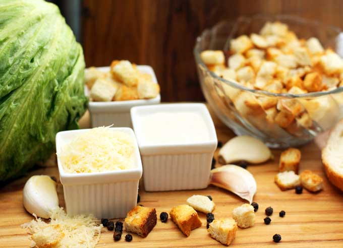 Caesar salad Ingredients | Foodal.com