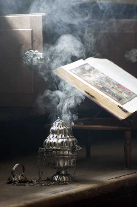 Thurible burning incense | Foodal.com