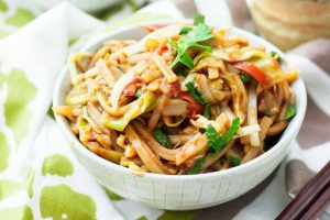 Gluten-Free Veggie-Packed Pad Thai with Seared Tofu