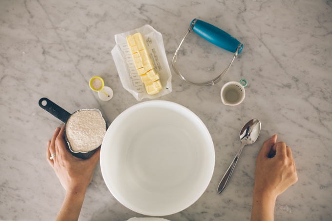 How to Make an All-Butter Pie Crust - step one is gather all your ingredients!