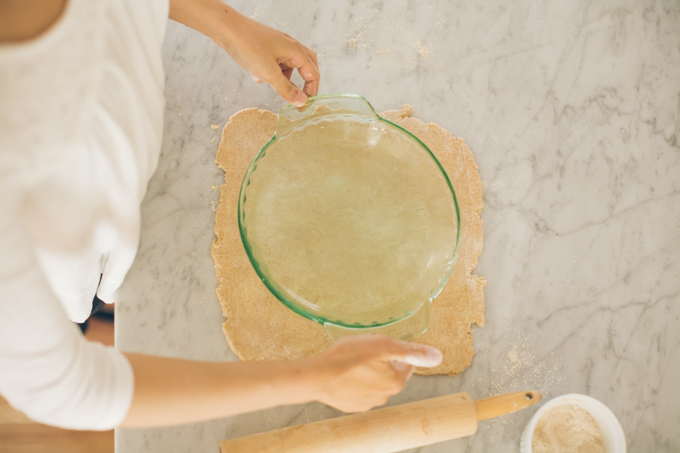 make a pie - step 10b - roll out a little bigger than pie pan