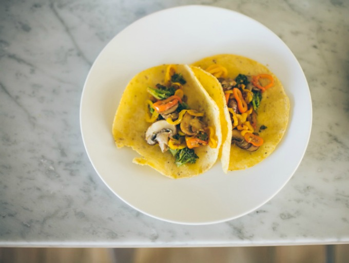 vegetarian tacos from food loves writing
