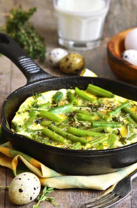 Asparagus Cheese Frittata | Foodal.com