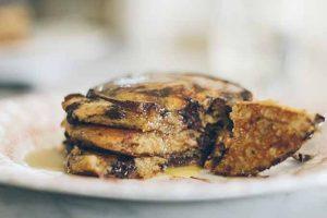 Einkorn Rye Chocolate Chip Pancakes