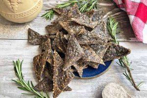 Buckwheat Rosemary Cheese Crackers