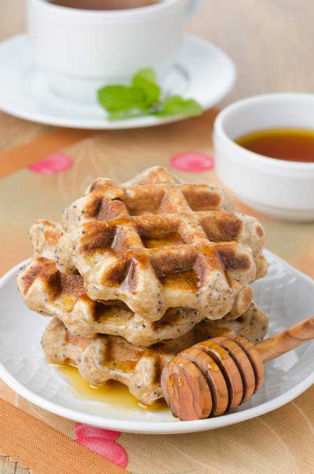 homemade waffles with maple syrup | Foodal.com