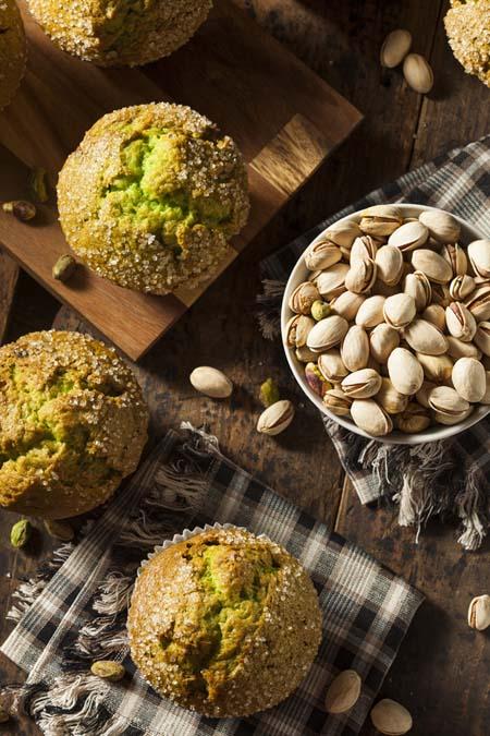 Pistachio-Cardamom Muffins | Foodal.com