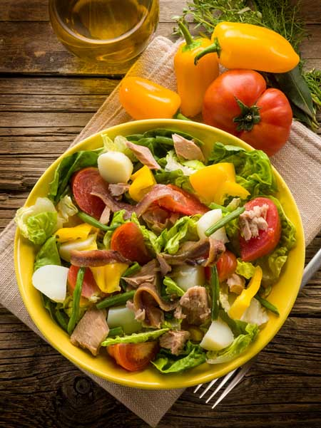 "Salad Nicoise as Describe in Julia Child's ""The Way We Cook"" 