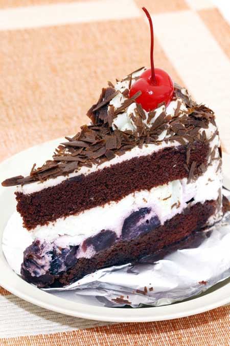 Slice of Black Forest Cake | Foodal.com