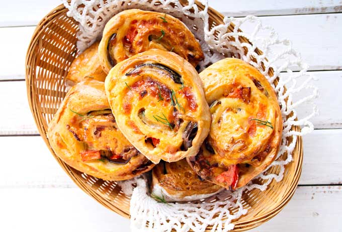 Spicy-Savory Sausage Pinwheels | Foodal.com