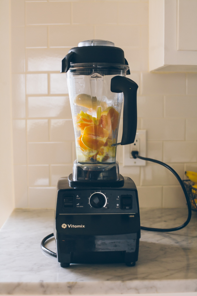 Orange Ginger Vitamix Smoothie