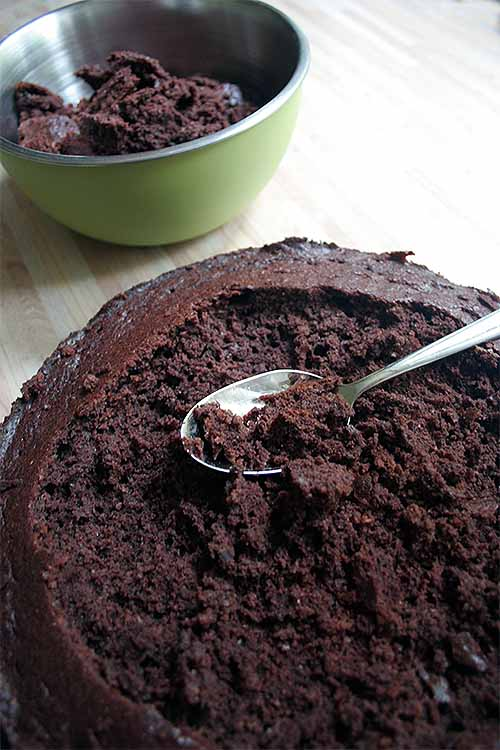 Skip the icing and make this cream and fruit filled cake instead, topped with chocolate cake crumbs: https://foodal.com/recipes/desserts/this-german-mole-cake-will-have-you-digging-for-more